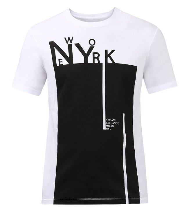 7bf1e6651d0 Buy Armani Exchange White Graphic Print T-Shirt for Men Online ...