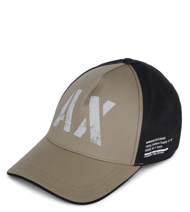 Buy Armani Exchange Khaki 3D AX Logo Baseball Cap for Men Online ... 1c1912a62d32