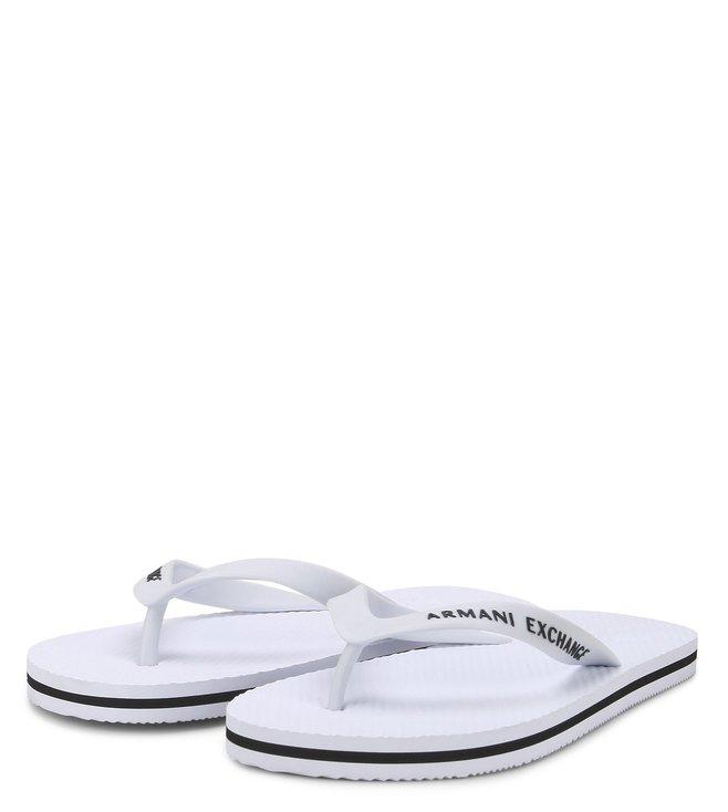 Armani Exchange Bianco & Nero Flip Flops