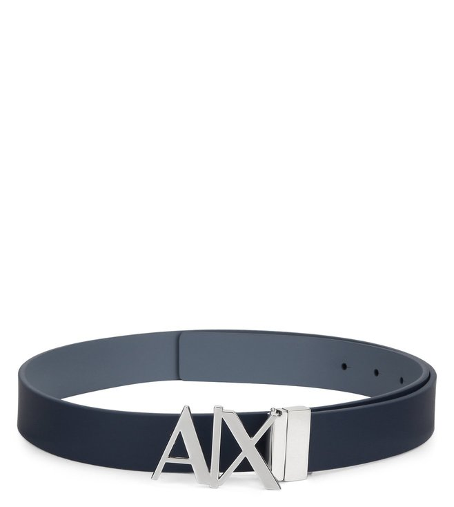 3f803433 Buy Armani Exchange Deep Blue Horiz Reversible Hinge Belt for Men ...