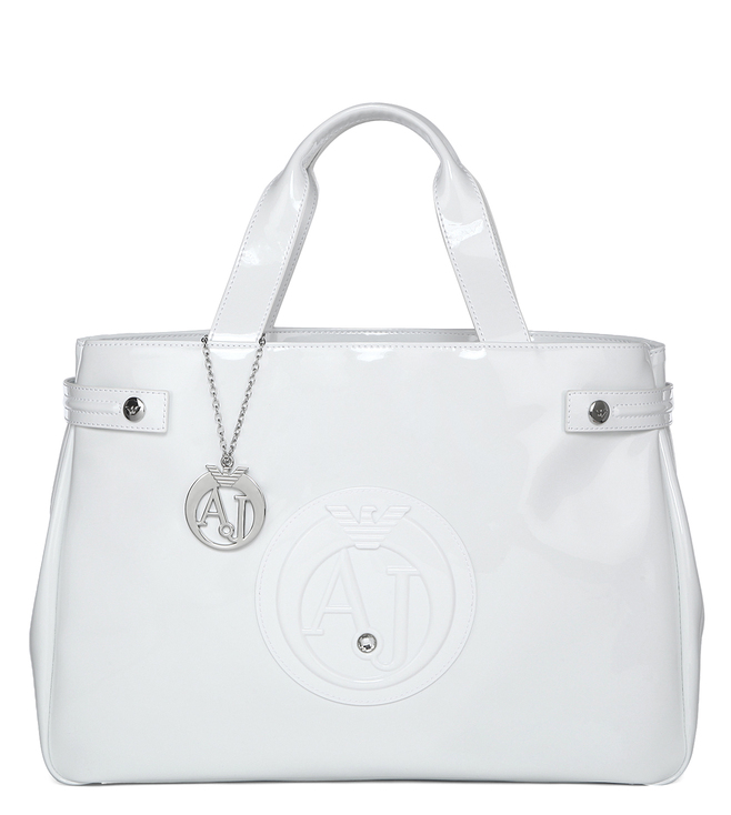 Buy Armani Jeans Bianco Shoulder Bag for Women Online   Tata CLiQ Luxury 170bed048d629