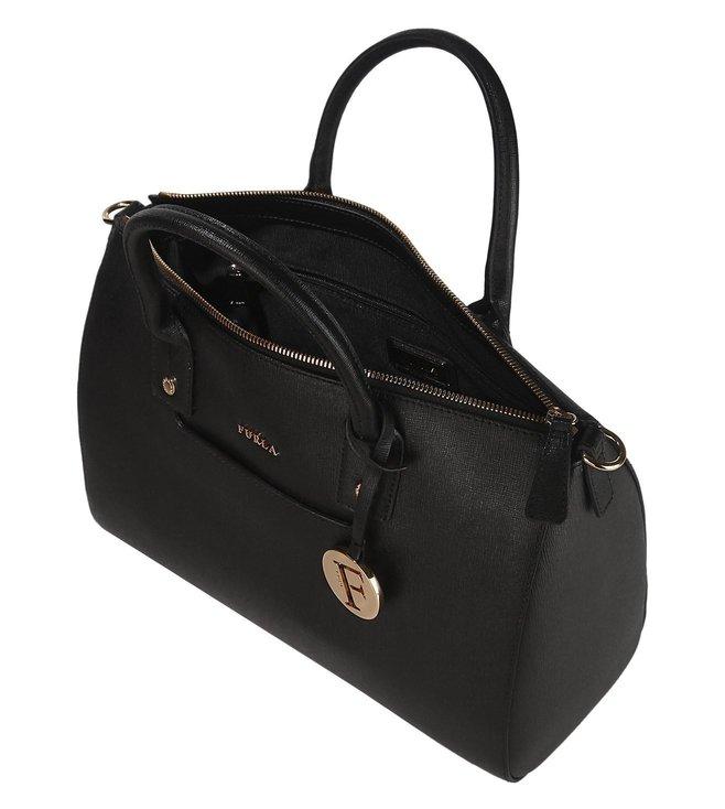 0a441c95a4d9 Buy Furla Linda Onyx Medium Satchel Bag for Women Online   Tata CLiQ ...