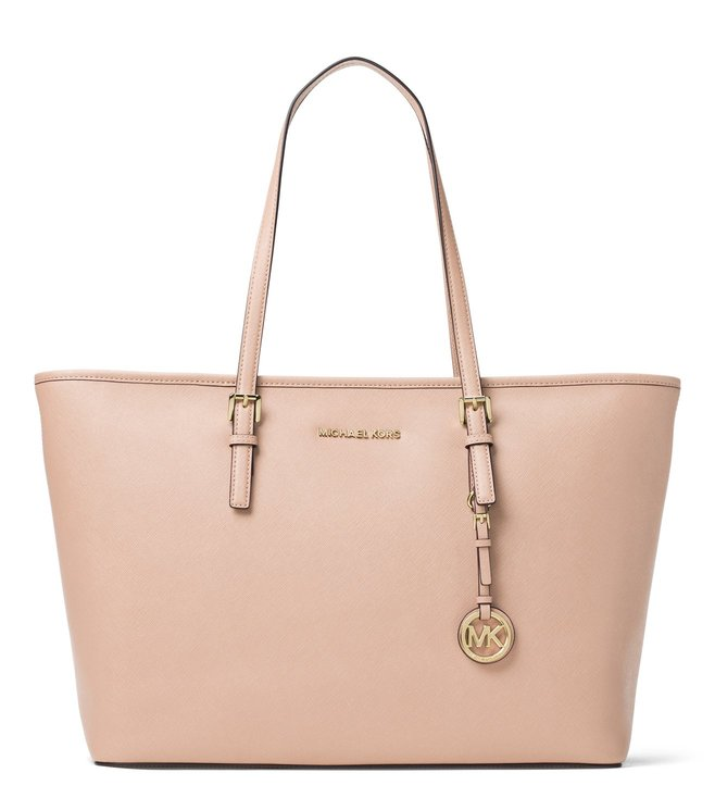 3a1f9a20ccb255 Buy Michael Michael Kors Jet Set Travel Soft Pink Tote for Women ...