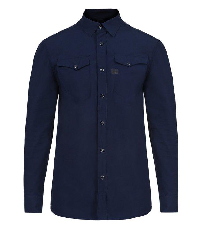 93240dfd3b Buy G-Star RAW Dark Police Blue Tacoma Deconstructed Slim Shirt for ...