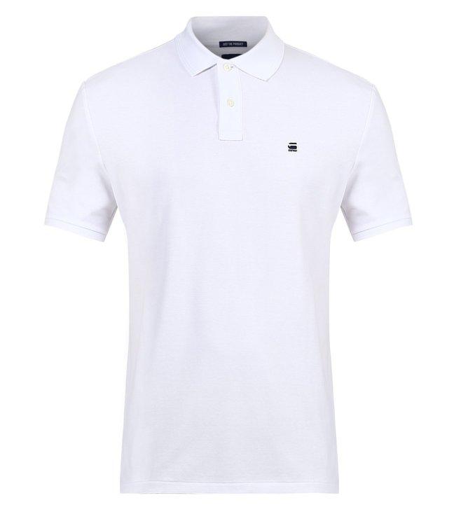 69c4a282e4c Buy G-Star RAW Dunda White Polo T Shirt for Men Online @ Tata CLiQ ...