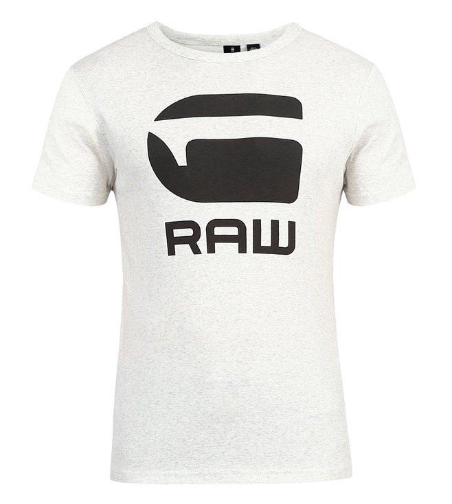 3092aedc55dc Buy G-Star Raw White Htr Drillon Slim T Shirt for Men Online   Tata ...