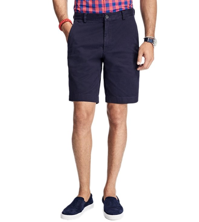Brooks Brothers Red Fleece Navy Stretch Cotton Twill Shorts