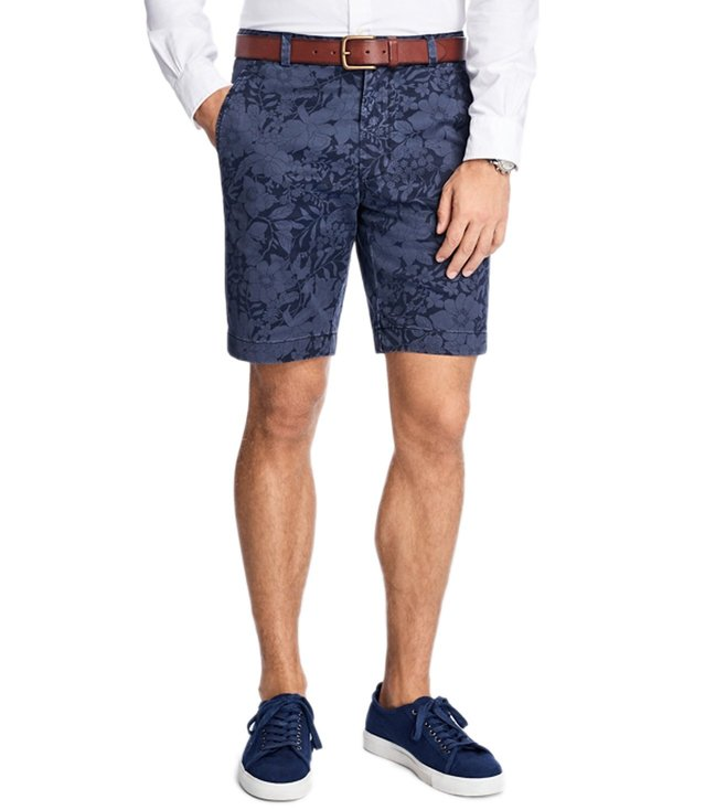 Brooks Brothers Red Fleece Navy Floral Print Twill Shorts