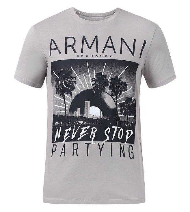 Buy Armani Exchange Alloy Cotton Graphic Print T Shirt for Men ... afdb371d6bde0