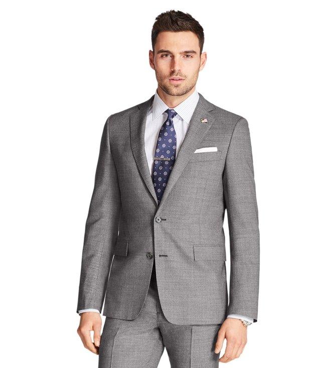 376408a0e4 ... Men Formal Suits; Brooks Brothers Grey Neat Regent Fit 1818 Suit. ×.  Previous