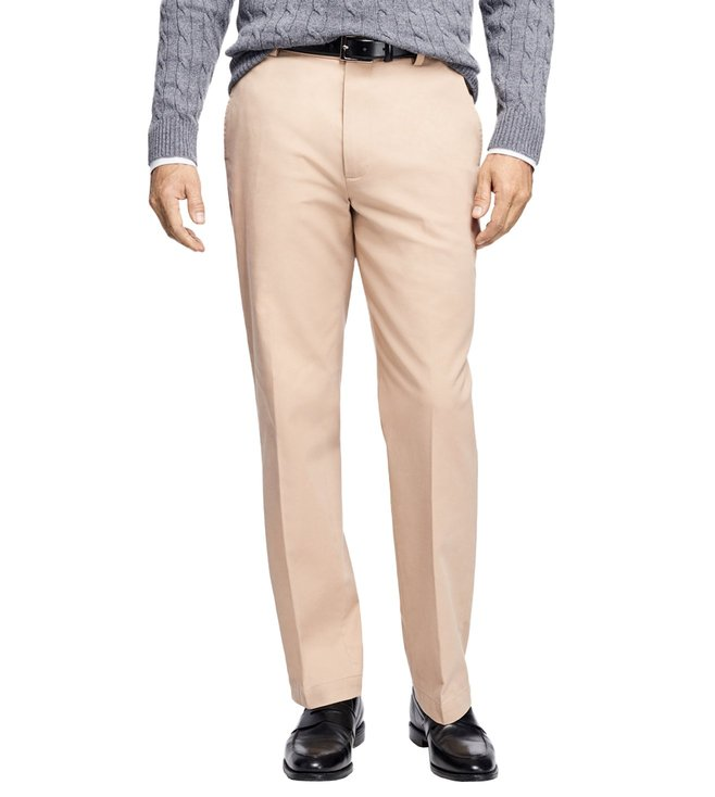 Brooks Brothers Khaki Clark Fit Supima Cotton Stretch Chinos