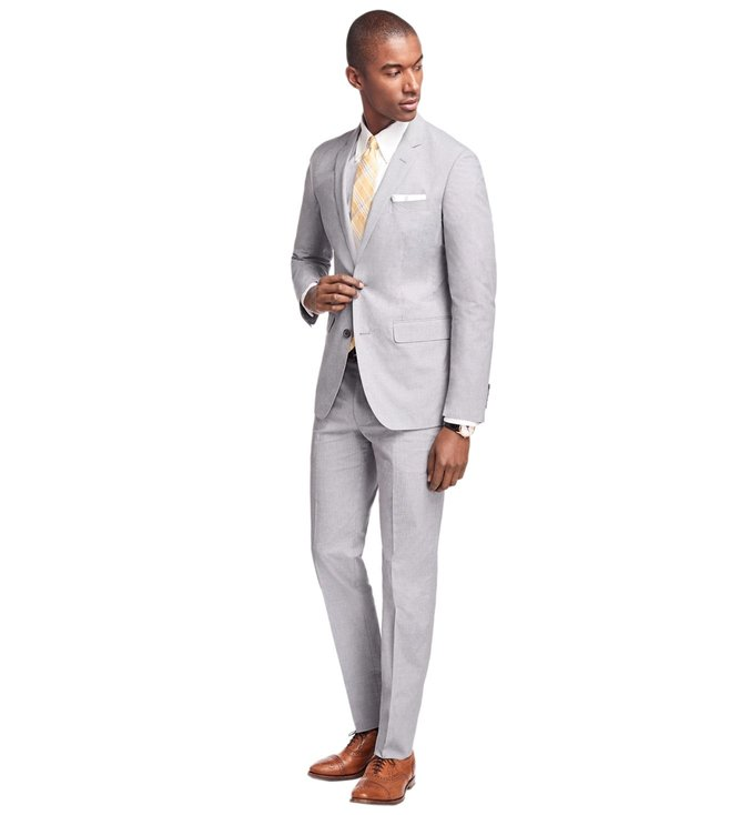 48de5e357b6dab Added to Bag. Brooks Brothers Black & White Milano Fit Houndscheck Suit