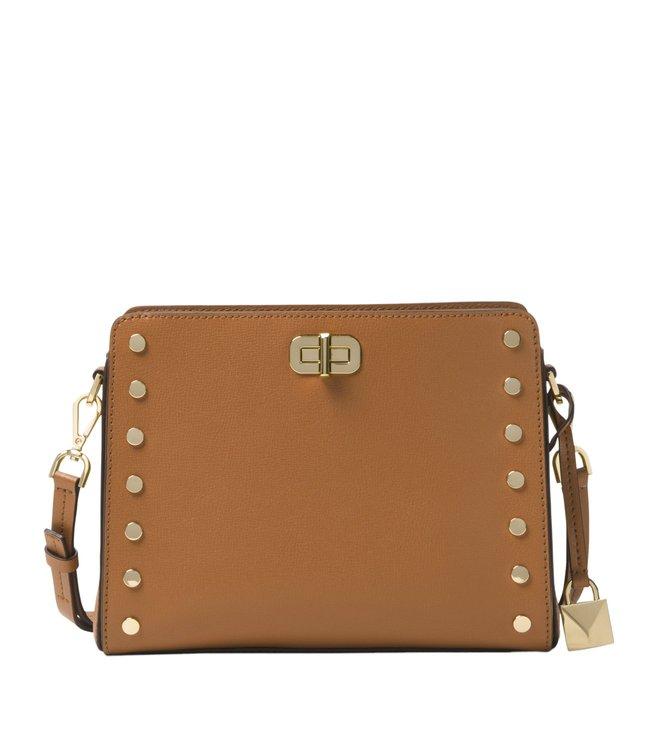 2390c9df0ab7 Added to Bag. Michael Michael Kors Sylvie Stud Acorn Medium Crossbody Bag