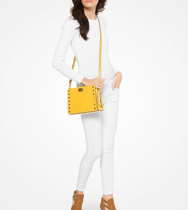 40644ff86676 Buy Michael Michael Kors Sylvie Stud Sunflower Crossbody Bag For ...