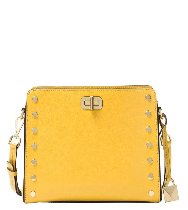 b1c0a9ad5fc4 Added to Bag. Michael Michael Kors Sylvie Stud Sunflower Crossbody Bag