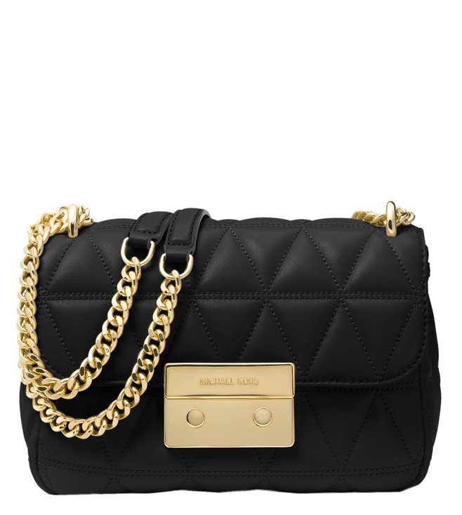 8a6ee794729462 Added to Bag. Michael Michael Kors Sloan Black Large Chain Shoulder Bag
