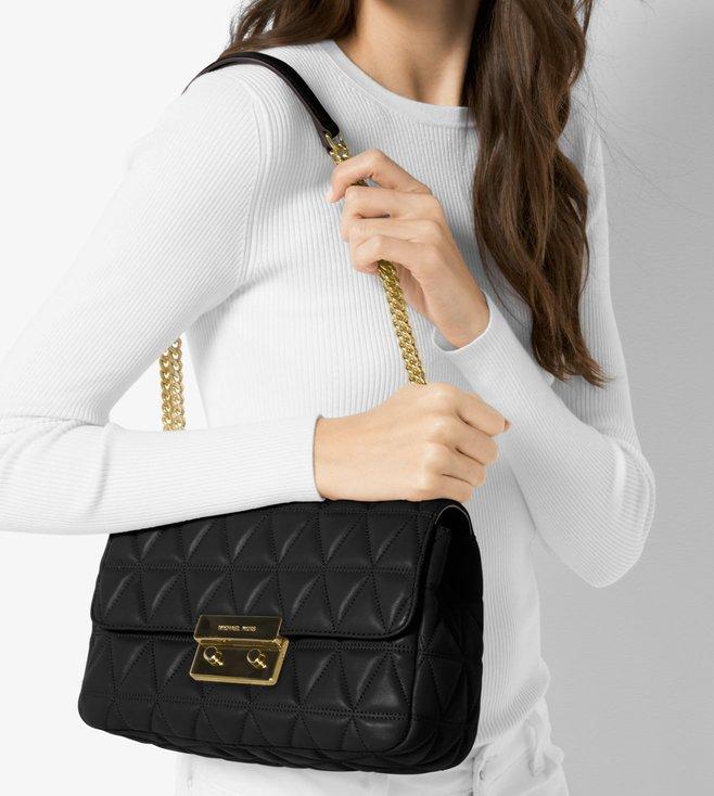1b9385644d81 Buy Michael Michael Kors Sloan Black Large Chain Shoulder Bag for ...