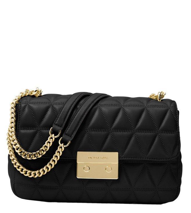 4252b589760f Added to Bag. Michael Michael Kors Sloan Black Large Chain Shoulder Bag