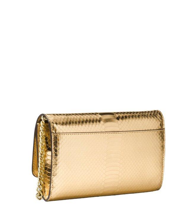 3125b0e57de653 Buy Michael Michael Kors Mott Pale Gold Large Clutch For Women ...