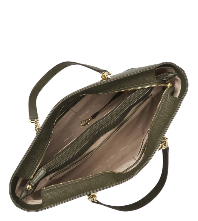1ea1bc458b18 Buy Michael Michael Kors Mercer Olive Large Chain Link Tote Bag for ...
