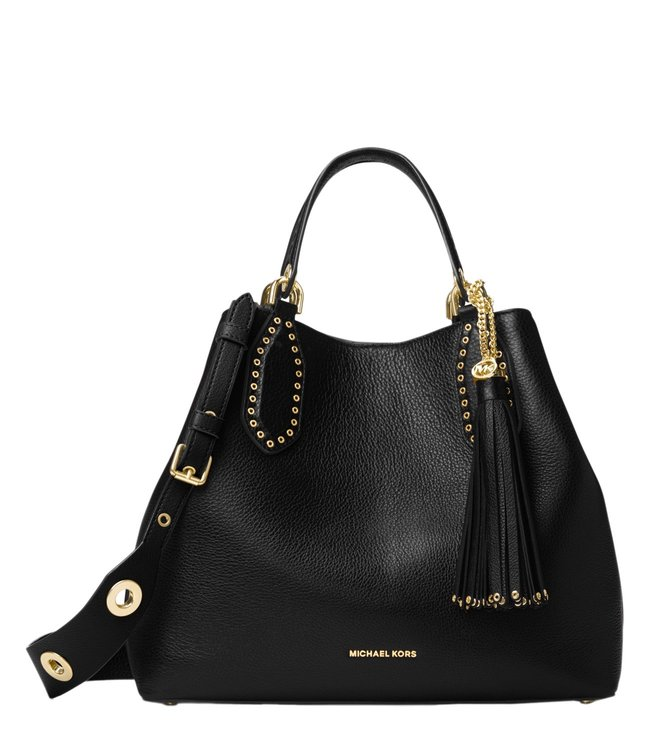 Buy Michael Michael Kors Brooklyn Black Large Tote Bag for Women ... 781ef6b62f58a