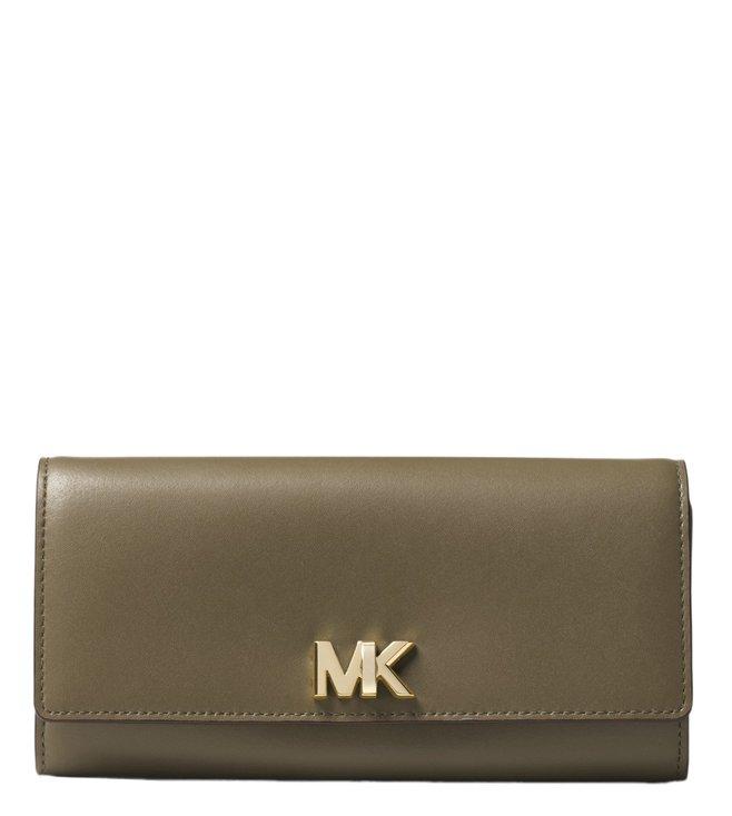 6fd1a8aaa2a997 Buy Michael Michael Kors Mott Olive Large Wallet for Women Online ...