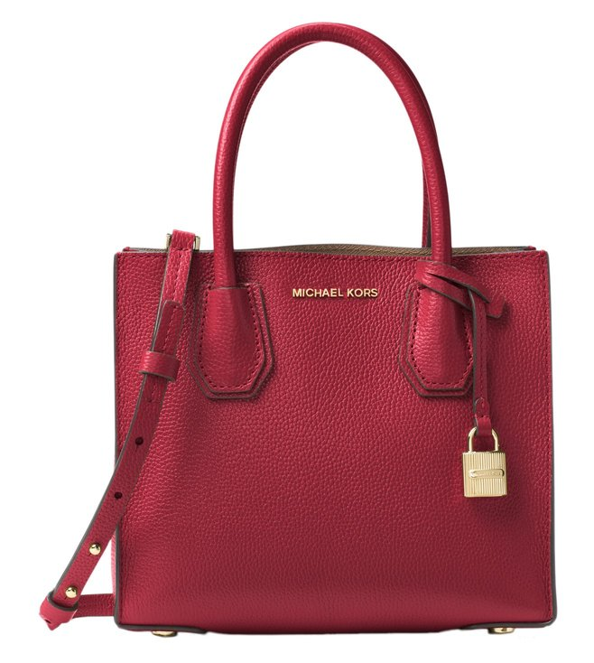 b4af14bd146c Added to Bag. Michael Michael Kors Mercer Burnt Red Small Crossbody Bag