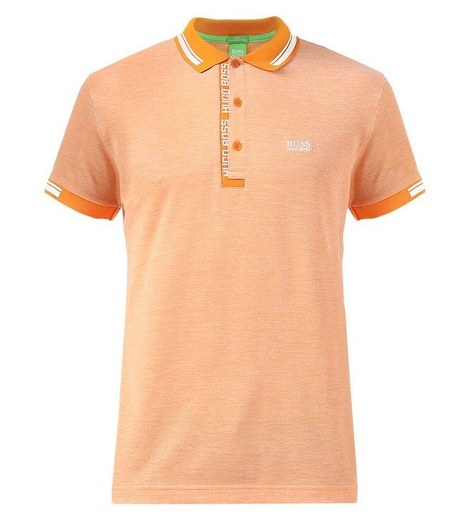 65092ef0 Buy Boss Orange Textured Slim Fit Polo T Shirt 'Paule' for Men ...