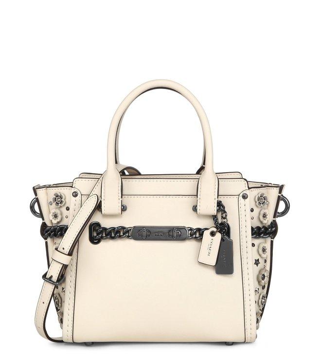 dbb3a0ce8b85d Buy Coach Swagger 21 Dark Chalk Satchel Bag for Women Online   Tata ...