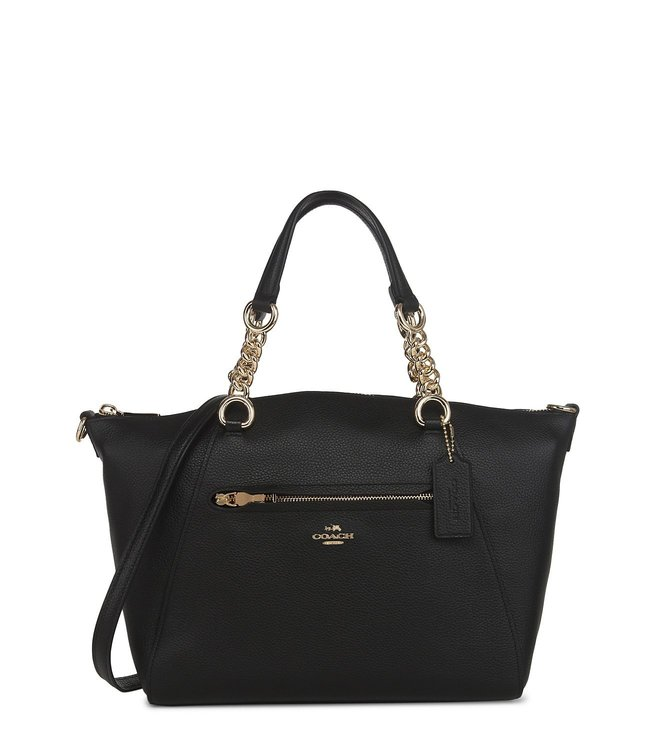 97f9052acfcf6 Buy Coach Prairie Light Black Polished Pebble Leather Satchel for ...