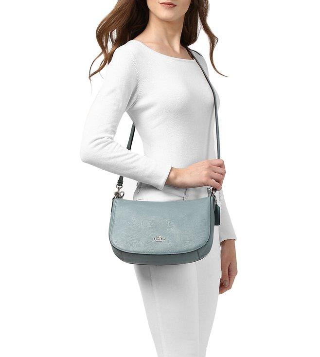 4cb65b9332 Buy Coach Chelsea Silver Cloud Leather Crossbody Bag for Women ...