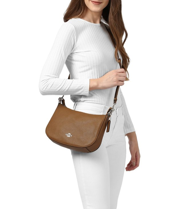 Buy Coach Silver-Saddle Leather Chelsea Crossbody Bag for Women ... c51a382d5eda7
