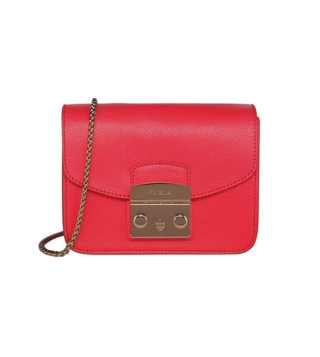 Furla Metropolis Pinky Fluo Mini Crossbody Bag
