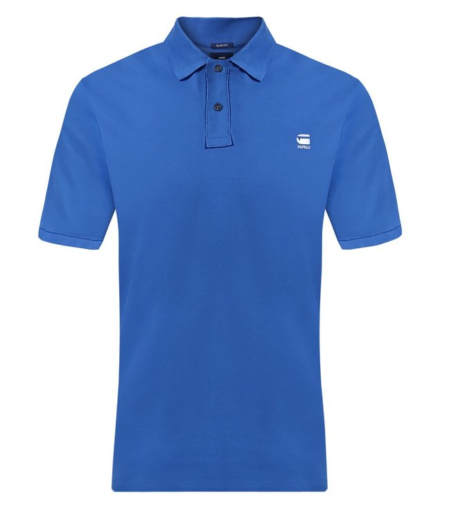 a9d06f0372c Buy G-Star RAW Blue Daefon Slim Fit Polo T-Shirt for Men Online ...