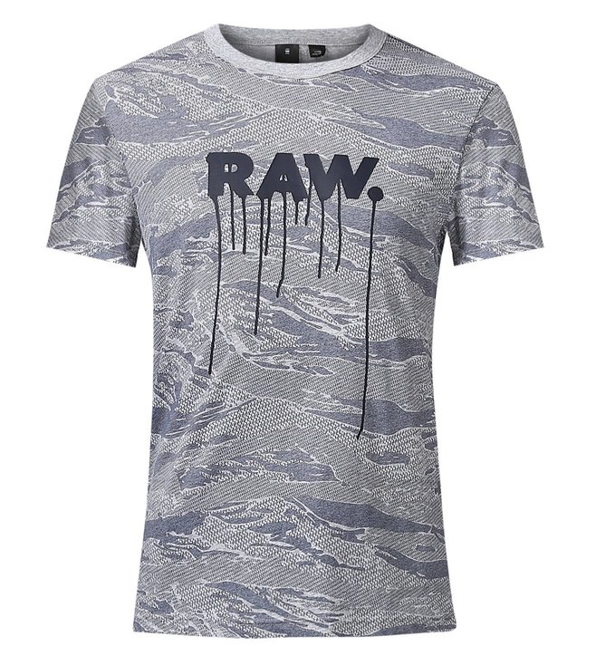67a3d7d4067 Buy G-Star RAW Grey Daefon Pattern T-Shirt for Men Online @ Tata ...