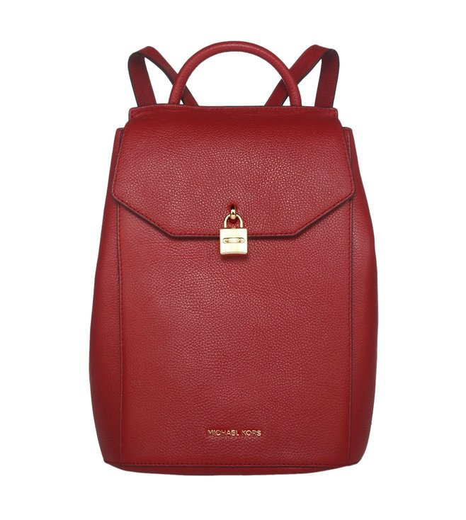 f1841c05d98c Michael Kors. Michael Michael Kors Mercer Burnt Red Medium Backpacks ...