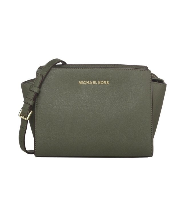 d6d853125a7c Buy Michael Michael Kors Selma Olive Small Messenger bag for Women ...