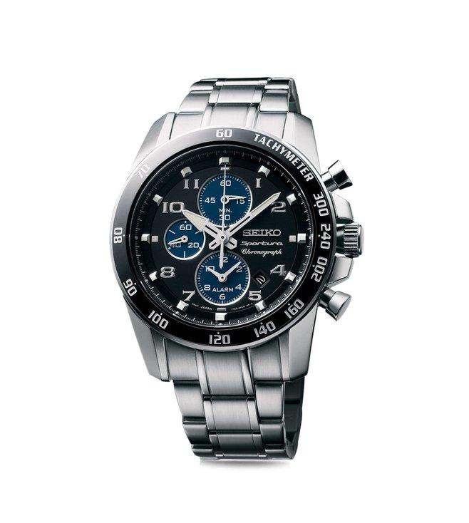 Seiko SNAE63P1 Sportura Chronograph Black Dial Men's Watch (SNAE63P1)