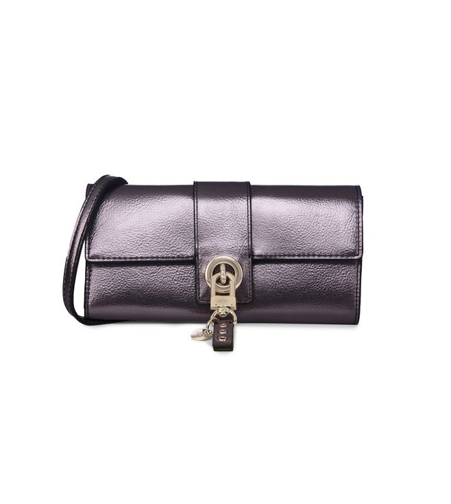 Buy Armani Exchange Gunmetal Laminated Evening Clutches for Women ... 4ea5c638696d8