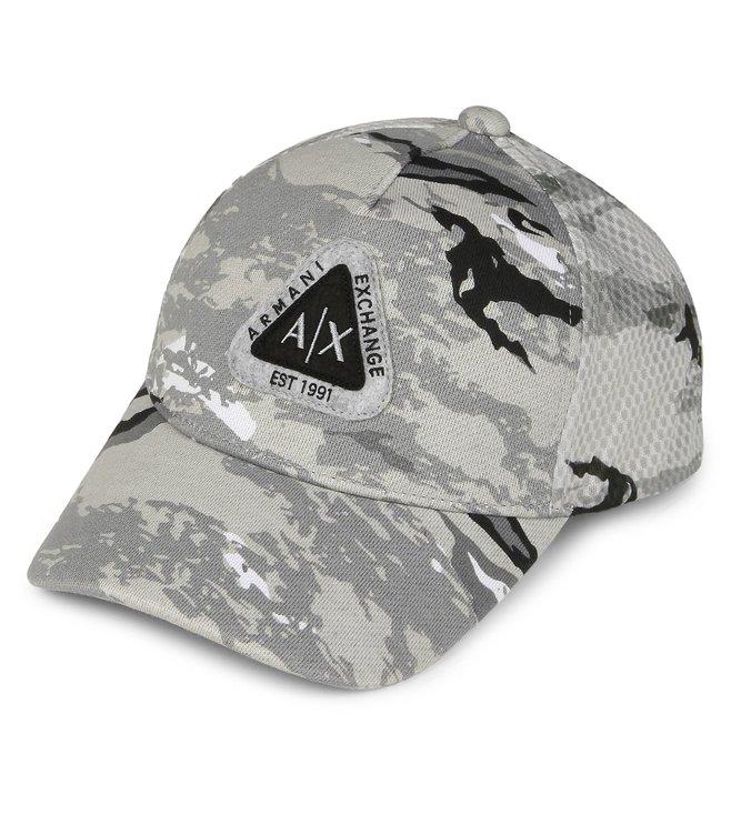 Armani Exchange Grey Camo Baseball Cap