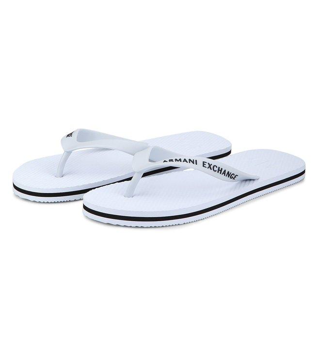 Armani Exchange Bianco Classic Flip-Flops