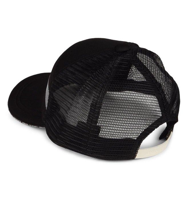 30d2bbd1d9c Buy Armani Exchange Nero Strikethrough Logo Print Baseball Cap for ...