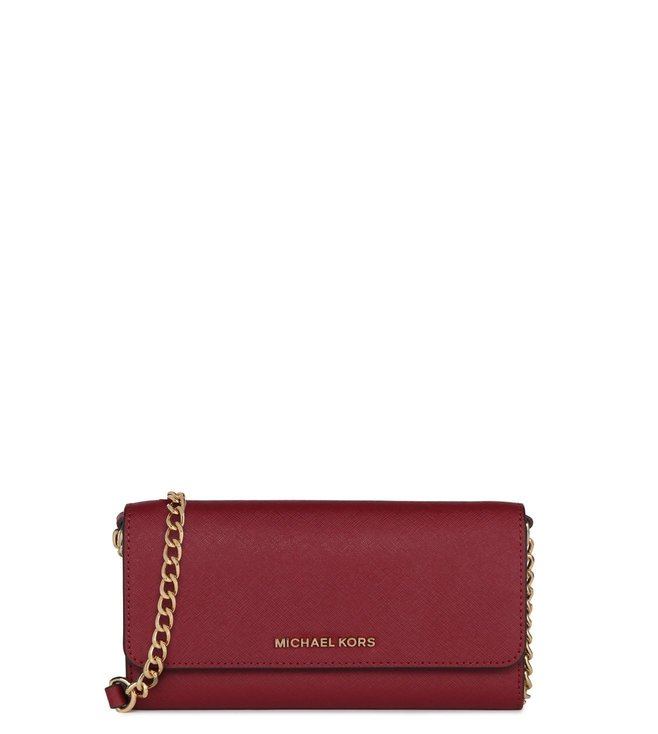 bb22b7c91b7c Added to Bag. Michael Kors Jet Set Travel Mulberry Small Saffiano Wallet
