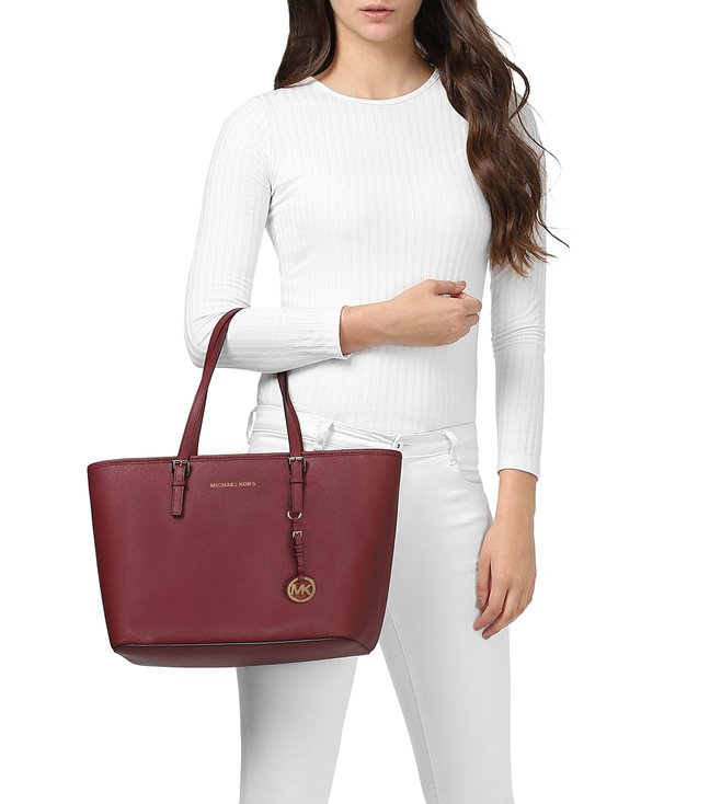 a8831765795e Buy Michael Kors Jet Set Travel Mulberry Large Saffiano Totes for ...
