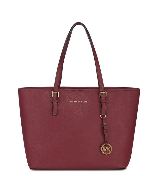 6259c044a0a0 Added to Bag. Michael Kors Jet Set Travel Mulberry Large Saffiano Totes