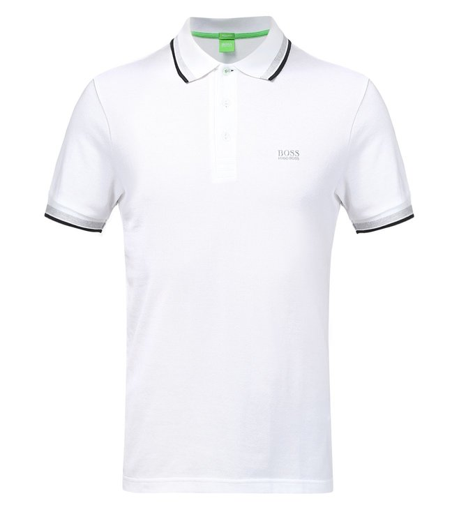 85fd0fcce Buy Boss Green White Regular Fit Polo Paddy T-Shirt for Men Online ...
