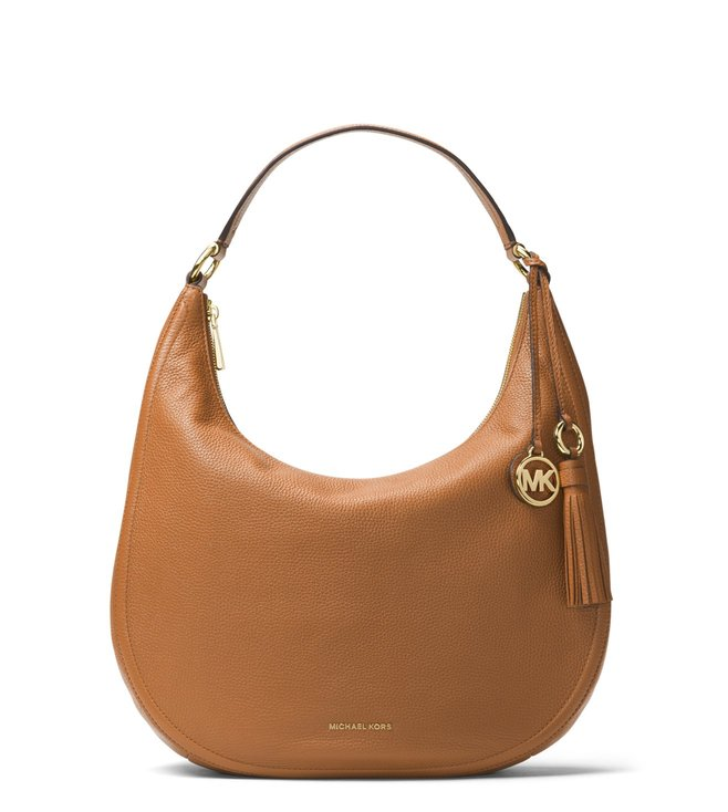 2d100ae0a6ba Added to Bag. Michael Michael Kors Acorn Lydia Large Leather Shoulder Bag