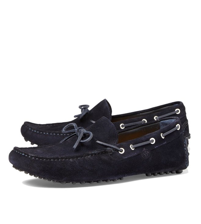 Brooks Brothers Navy Suede Leather Moccasins