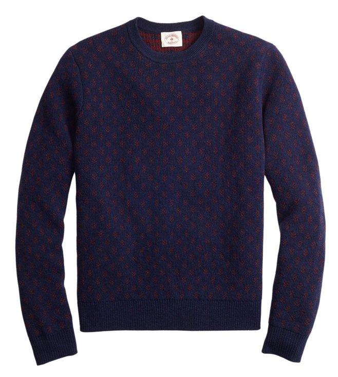 codes promo techniques modernes publier des informations sur Buy Brooks Brothers Red Fleece Navy Foulard Jacquard Sweater ...