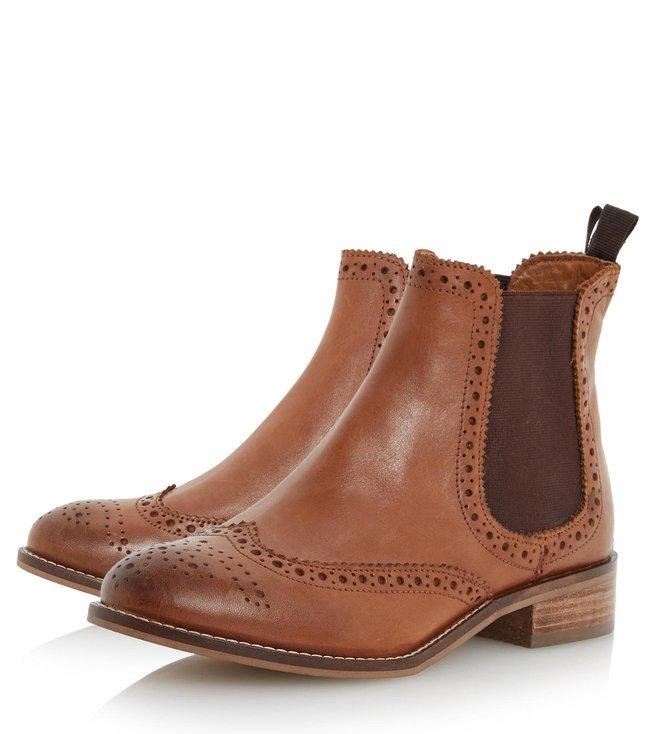 Dune London Tan Leather Quenton Chelsea Boot